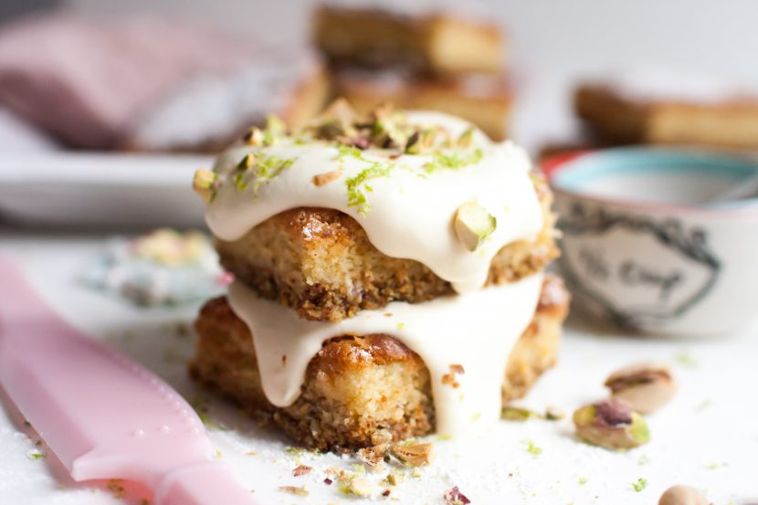 Limetten-Pistazien Kuchen