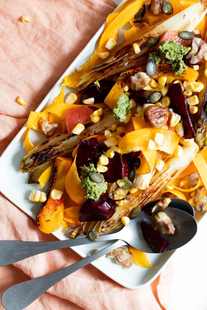 Lauwarmer Herbstsalat