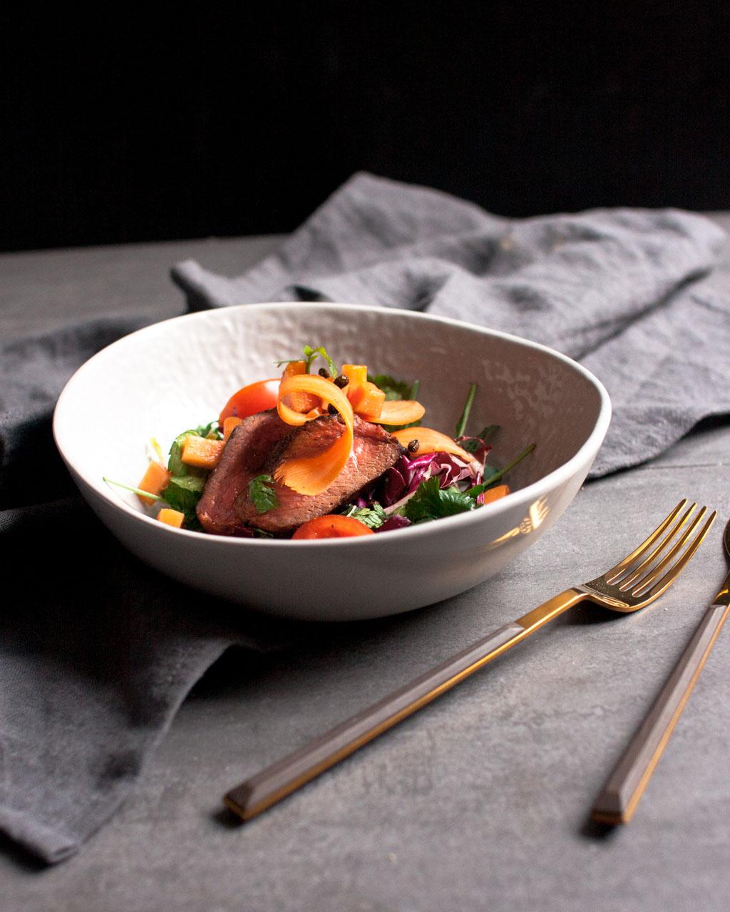 Papaya-Steak-Salat