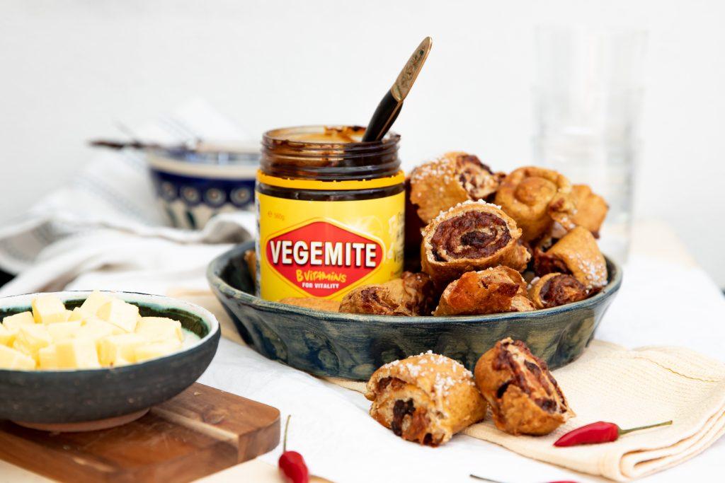 Australische Rezepte Vegemite Cheesy Brezel Bites