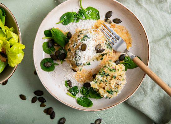 Spinat-Mozzarella-Knödel